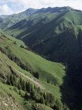 Near Narat, Tianshan (Tian Shan) Mountains, Xinjiang, China Photographic Print by  Occidor Ltd