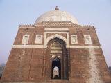 Tomb of Ghiyasuddin Tughlaq (Ghiyas-Ud-Din Tughluq), Delhi, India Photographic Print by John Henry Claude Wilson