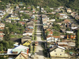 Street and Houses, Puerto Montt, Chile, South America Photographic Print by Nick Wood