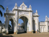The Gate to the Palace at Mysore, Karnataka, India Photographic Print by  Occidor Ltd