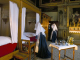Tableau Shows Work of the Nursing Sisters, Hotel Dieu, Beaune, Burgundy, France Photographic Print by Adam Woolfitt
