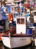 Fishing Boats in Port, Concarneau, Brittany, France Photographic Print by Nick Wood