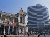 Old and New Architecture, Connaught Place, New Delhi, Delhi, India Photographic Print by John Henry Claude Wilson