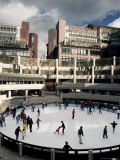 Open Air Ice Rink, Broadgate, City of London, London, England, United Kingdom Photographic Print by Adam Woolfitt