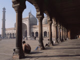 The Jama Masjid (Friday Mosque), Old Delhi, Delhi, India Photographic Print by John Henry Claude Wilson
