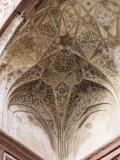 Detail of the Exquisite Painted Ceilings Found in the Tomb of Itmad Ud Daulah, Uttar Pradesh State Photographic Print by John Henry Claude Wilson