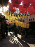 Dyed Wool, Dyers Souk, Marrakesh, Morocco, North Africa, Africa Photographic Print by Adam Woolfitt