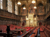 The Lords Chamber, House of Lords, Houses of Parliament, Westminster, London, England Photographic Print by Adam Woolfitt