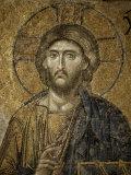 Mosaic of Christ, Santa Sofia, Istanbul, Turkey, Eurasia Photographic Print by Adam Woolfitt