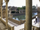 Sacred Pools Surrounded by Mosques and Koranic Colleges, Urfa, Kurdistan, Anatolia Photographic Print by Adam Woolfitt