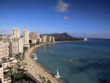 Waikiki, Oahu, Hawaiian Islands, United States of America, Pacific, North America Photographic Print