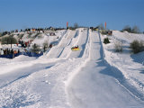 Sledding During Winter Carnival, Quebec, Canada Photographic Print by Alison Wright