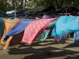 Colourful Beach Wraps for Sale, Manuel Antonio, Costa Rica, Central America Photographic Print by  R H Productions