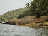 Sand for Building Recovered from the Bottom of the Tiracol River, Goa, India Photographic Print by  R H Productions