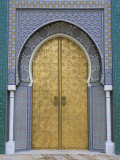 Ornate Doorway, the Royal Palace, Fez, Morocco, North Africa, Africa Fotografisk tryk af R H Productions
