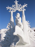 Snow Sculptures at Winter Carnival, Quebec, Canada Photographic Print by Alison Wright