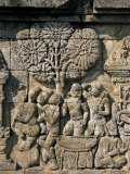 Detail of Carved Frieze, Borobudur, Unesco World Heritage Site, Java, Indonesia Photographic Print by  R H Productions