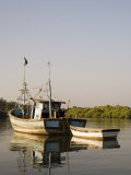 Fishing Boats on Backwater Near Mobor, Goa, India Photographic Print by  R H Productions