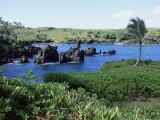 Walanapanapa Black Sand Beach, Hana Coast, Maui, Hawaii, Hawaiian Islands, USA Photographie par Alison Wright