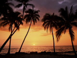 Sunset, Kohala Coast, Island of Hawaii, Hawaiian Islands, USA Photographic Print