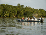 Tourist Boat on Canal,Tortuguero, Costa Rica, Central America Photographic Print by  R H Productions