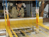 A Man Weaving at One of the Cooperatives in an Area That is Famous for Its Saris Photographic Print by R H Productions 