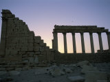 Ruins at Sunset, Archaeological Site, Jerash, Jordan, Middle East Photographic Print by Alison Wright