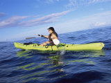 Kayaking off Wailea Beach, Maui, Hawaii, Hawaiian Islands, USA Photographic Print by Alison Wright
