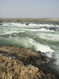 Rapids on the Narmada River Just West of Maheshwar, Madhya Pradesh State, India Photographic Print by  R H Productions