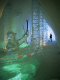 Ice Sculptures, Ice Hotel, Quebec, Quebec, Canada Photographic Print by Alison Wright