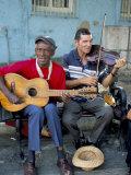 Musicians Playing Salsa, Santiago De Cuba, Cuba, West Indies, Central America Reprodukcja zdjęcia autor R H Productions