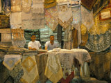 Selling Lace, Souq Al-Hamidiyya, Old City's Main Covered Market, Damascus, Syria, Middle East Photographic Print by Alison Wright