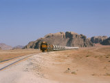 Train on Railway in the Desert, Shoubek, Jordan, Middle East Photographic Print by Alison Wright