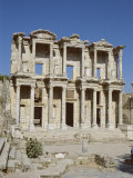 Reconstructed Library of Celsus, Archaeological Site, Ephesus, Anatolia, Turkey Photographic Print by  R H Productions