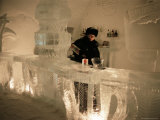 Smirnoff Ice Bar, Ice Hotel, Quebec, Quebec, Canada Photographic Print by Alison Wright