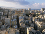 View Over the City from Crown Hotel, Beirut, Lebanon, Middle East Photographic Print by Alison Wright