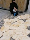 Woman Selling Bread in the Armenian Area, Aleppo, Syria, Middle East Photographic Print by Alison Wright