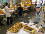 Man Selling Dates in Downtown Vegetable Market, Amman, Jordan, Middle East Photographic Print by Alison Wright