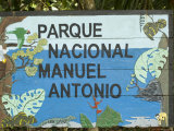 Manuel Antonio National Park Sign, Costa Rica, Central America Photographic Print by  R H Productions