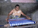 Woman Weaving Ikat Cloth, Lamalera Island, Indonesia, Southeast Asia Photographic Print by Alison Wright