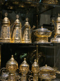 Coffee Pots for Sale at Souq Al-Hamidiyya, Old City's Main Covered Market, Damascus, Syria Photographic Print by Alison Wright