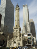 The Historic Water Tower, Near the John Hancock Center, Chicago, Illinois, USA Photographic Print by R H Productions 