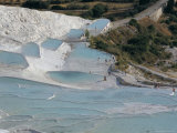 Travertine Terraces, Pamukkale, Unesco World Heritage Site, Anatolia, Turkey Photographic Print by  R H Productions