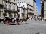 Street Scene with Horse and Carriage, Havana, Cuba, West Indies, Central America Photographic Print by  R H Productions