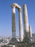 Citadel Columns, Amman, Jordan, Middle East Photographic Print by Alison Wright