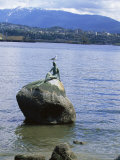 Mermaid Statue, Vancouver, British Columbia, Canada Photographic Print by Alison Wright