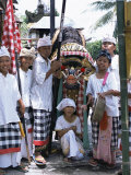 Children Dressed up for Galungan, the Day Before Nyepi Holiday, Ubud, Bali, Indonesia Photographic Print by Alison Wright