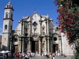 Catedral De San Cristobal, Old Havana, Havana, Cuba, West Indies, Central America Photographic Print by  R H Productions