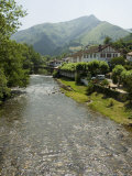 Hotel Arce on the River Nive, Basque Country, Aquitaine, France Photographic Print by  R H Productions