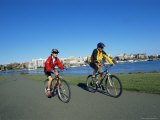 Biking on the Waterfront, Victoria, British Columbia, Canada Photographic Print by Alison Wright
